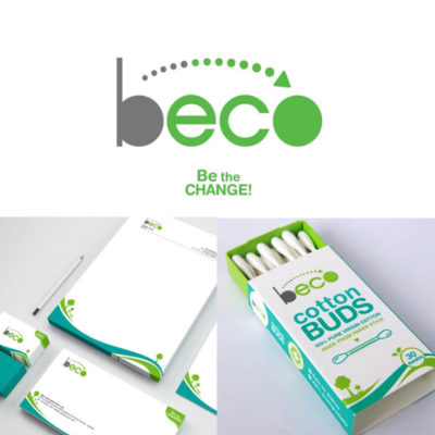 Eco friendly packaging design, letter head design, Bamboo ear buds