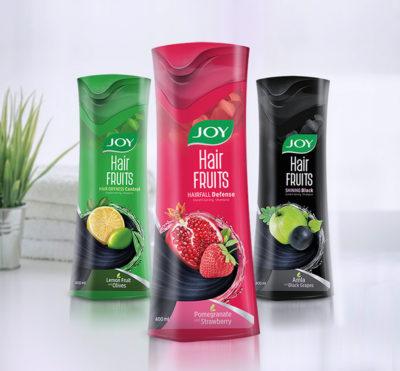 Shampoo Packaging design_Personal care _Joy hair fruits_Procreate